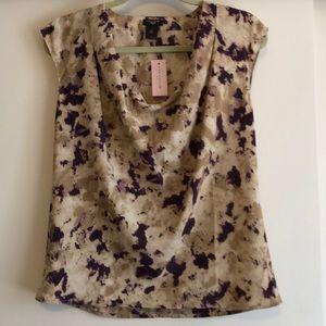 Ann Taylor sleeveless, cowl neck blouse